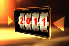 The new year 2011 Stock Photos