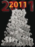 New year 2011. Pile of old years (numbers) with new year 2011 vector illustration