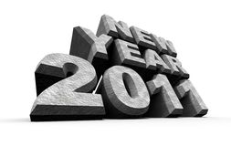 New year 2011. 3D art Royalty Free Stock Image