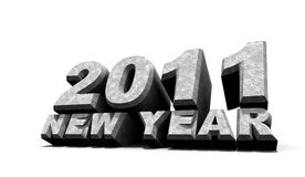 New year 2011. 3D art Stock Photography