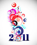 New year 2011. In white background. Vector illustration Royalty Free Stock Photography