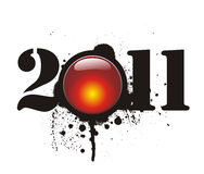 New year 2011. In white background. Vector illustration Stock Image