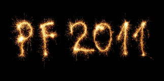 New year 2011 Stock Photos