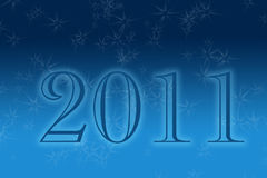 New Year 2011. Happy New Year 2011 - Blue Background Illustration Stock Photography
