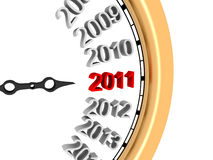 New Year 2011. 3d image of new year's clock in 2011 royalty free illustration