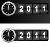 New Year 2011. Sign and Silver in Airport Time Style / Vector Royalty Free Illustration