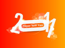 New year 2011. Abstract new year 2011 colorful design background.  Vector illustration Royalty Free Stock Image