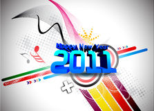 New year 2011. Abstract new year 2011 colorful design. Vector illustration royalty free illustration