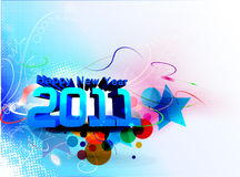 New year 2011. Abstract new year 2011 colorful design.  Vector illustration Royalty Free Stock Photos