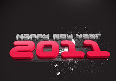 New year 2011. 3d abstract new year 2011 3d design. Vector illustration stock illustration