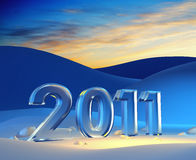 New year 2011. 3d render vector illustration