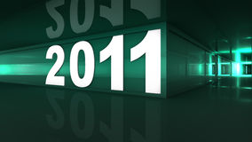 New year 2011. Concept in 3d vector illustration