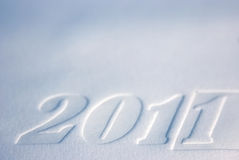 New year 2011. Happy New 2011 Year. Background of the paper relief card Stock Photo
