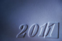 New year 2011. Happy New 2011 Year. Background of the paper relief card Royalty Free Stock Photography
