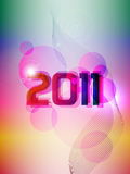 New Year 2011. Colorful New Year Card  2011. Vector illustration Royalty Free Stock Photography