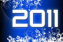 New Year 2011. Color background Stock Photos