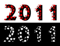 New year 2011. 2011 New Year  background Royalty Free Stock Photo