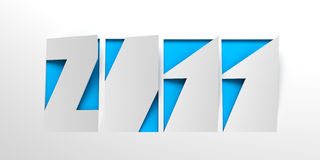New year 2011, 3d symbol. New year 2011, 3d render royalty free illustration