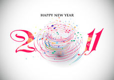 New year 2011 background. New year 2011 in white background. Vector illustration Royalty Free Stock Photos