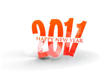 New year 2011 background. New year 2011 in white background. Vector illustration Stock Illustration