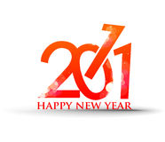 New year 2011 background. New year 2011 in white background. Vector illustration Stock Image
