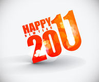 New year 2011 background. New year 2011 in white background. Vector illustration Stock Photography