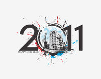 New year 2011 background. New year 2011 in white background. Vector illustration Stock Photos