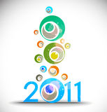 New year 2011 background. New year 2011 in white background. Vector illustration Royalty Free Illustration