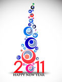 New year 2011 background. New year 2011 in white background. Vector illustration Royalty Free Stock Photography