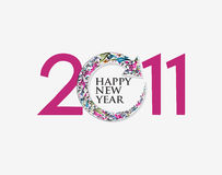 New year 2011 background. New year 2011 in white background. Vector illustration Stock Images
