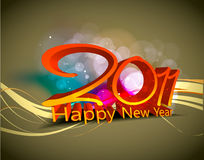 New year 2011 background. Abstract new year 2011 colorful design.  Vector illustration Royalty Free Stock Image