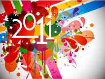 New year 2011 background. With beautiful concept, illustration Stock Images