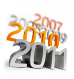 New year 2011 backgrounds Stock Photography