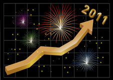 New Year 2011 business arrow going up Stock Images