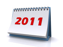 New year 2011 calendar. On a white background (3d render Royalty Free Stock Photos