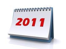 New year 2011 calendar Royalty Free Stock Photos