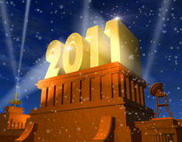 New Year 2011 celebration. Concept royalty free illustration