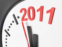 The new year 2011 in a clock Stock Image