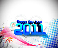 New year 2011 colorful design Stock Images