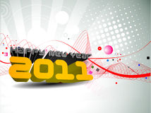 New year 2011 colorful design Stock Image