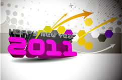 New year 2011 colorful design Stock Photography