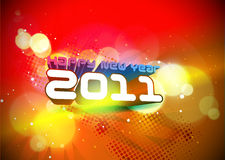 New year 2011 colorful design Royalty Free Stock Photography