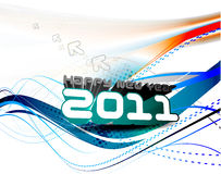 New year 2011 colorful design Stock Photos