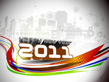 New year 2011 colorful design Stock Photo