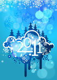 New year 2011 colorful design. Elegant christmas and new year background with beautiful concept, illustration Stock Images