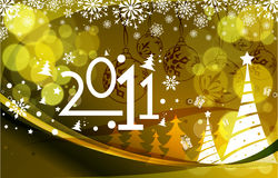 New year 2011 colorful design. Elegant christmas and new year background with beautiful concept, illustration Royalty Free Stock Photo