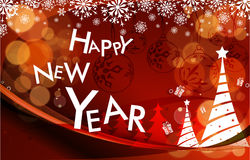 New year 2011 colorful design Royalty Free Stock Image