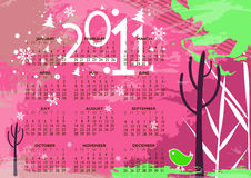 New year 2011 colorful design Royalty Free Stock Images