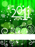 New year 2011 colorful design. Elegant christmas and new year background with beautiful concept,vector illustration Vector Illustration