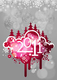 New year 2011 colorful design. Elegant christmas and new year background with beautiful concept,vector illustration Stock Image